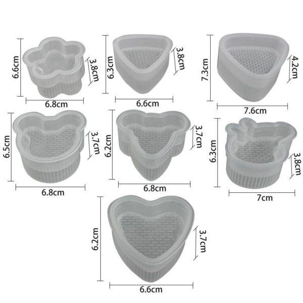Moules à onigiri - Dimensions