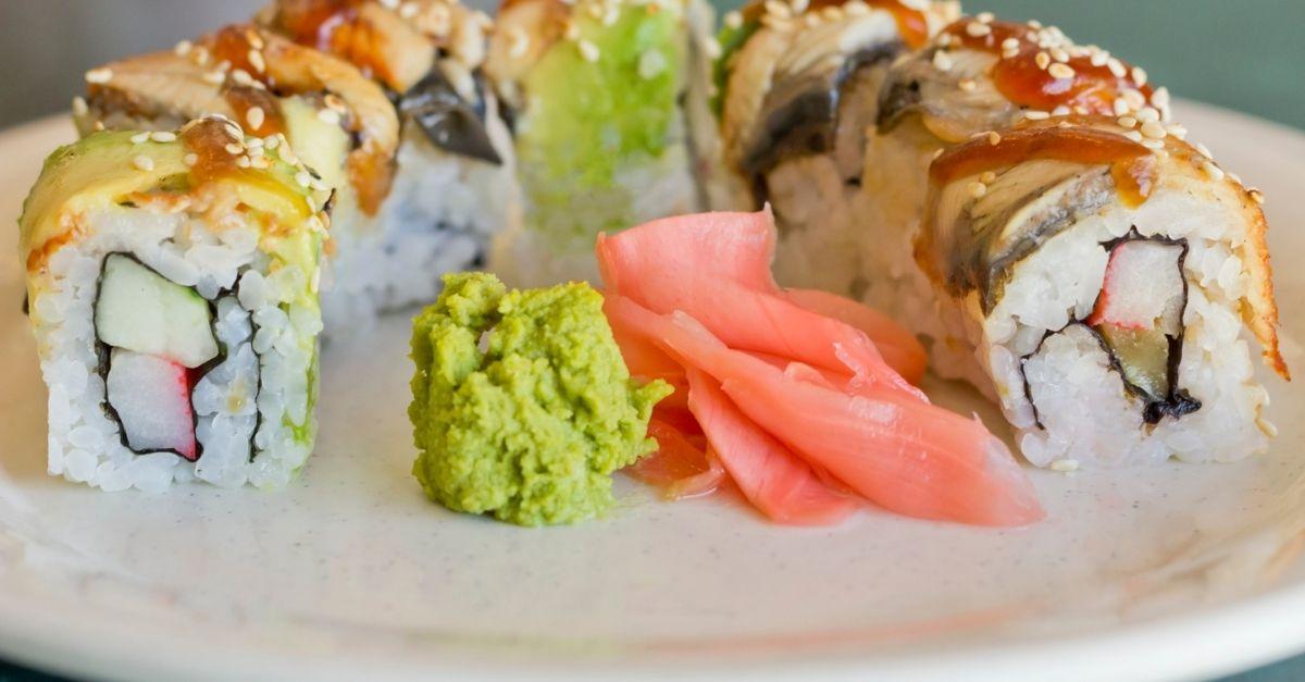 Sushi crème de fromage et crabe